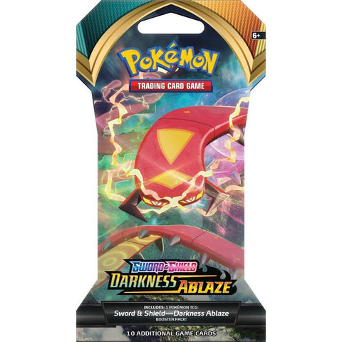 Pokemon Sword and Shield Darkness Ablaze Sleeved Booster (5 Count)