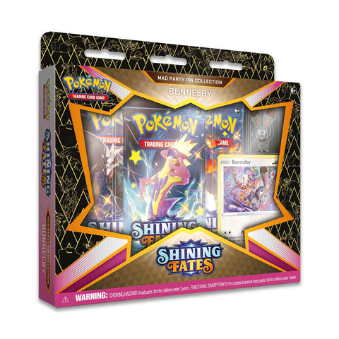 Pokemon Shining Fates Mad Party Pin Collection (Bunnelby)