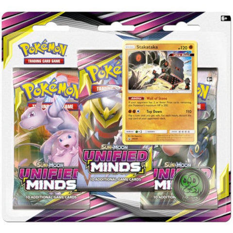 Pokemon: Unified Minds 3 Pack Blister