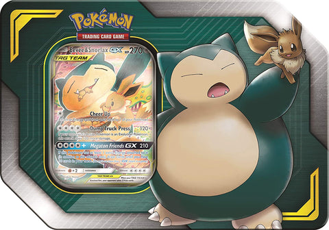 Pokemon Tag Team Tin Eevee and Snorlax-GX