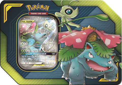 Pokemon Tag Team Tin Celebi and Venasaur-GX