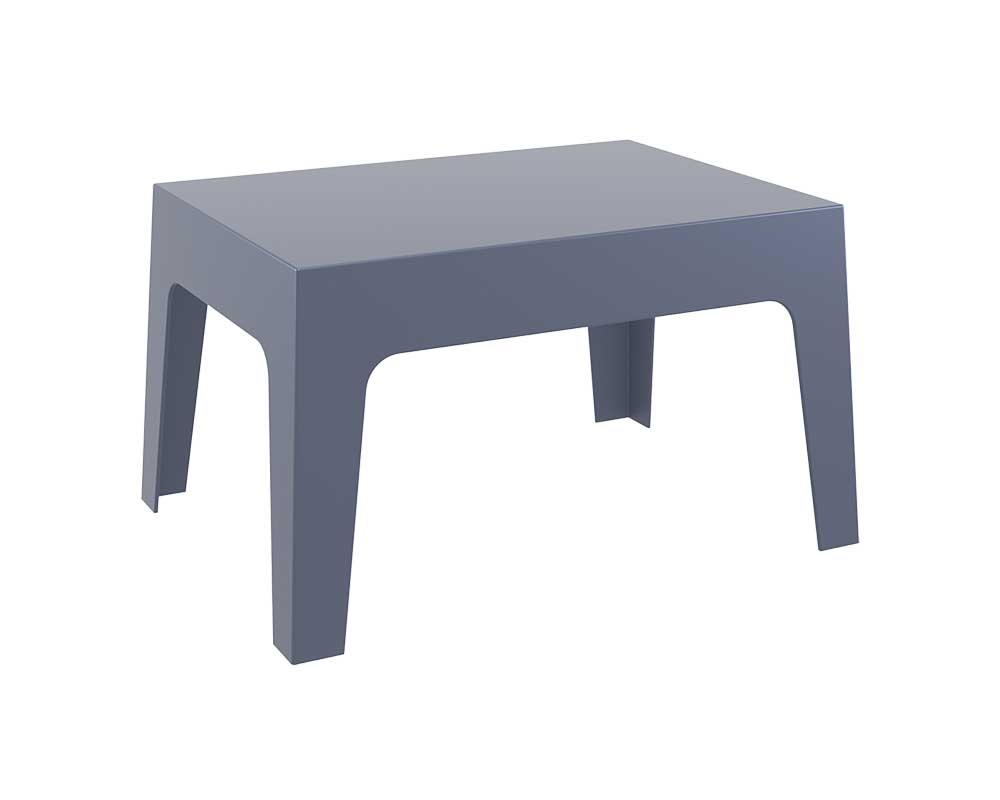 Side Table, Patio Dining Table, UV-resistant Garden Sofa Table, Stackable Outdoor/Indoor Furniture (BOX LIGHT) End Side Table