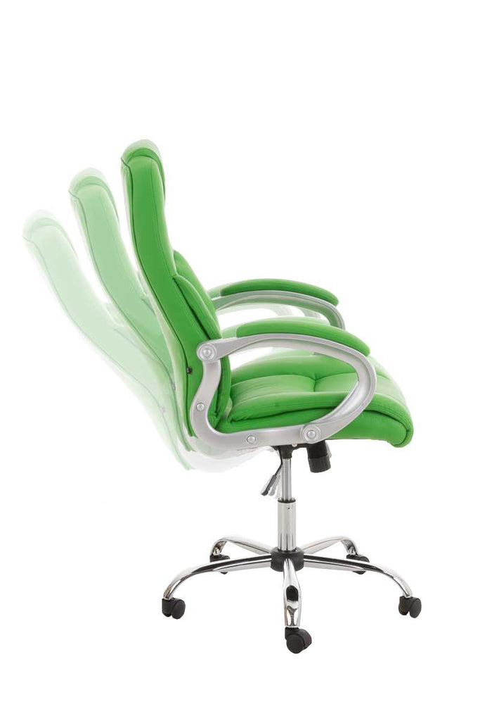 Leather Office Chair, Ergonomic Chair / Swivel Desk Computer Chair, Upholster Comfortably Padded Office Chairs-Tradecentral LTD