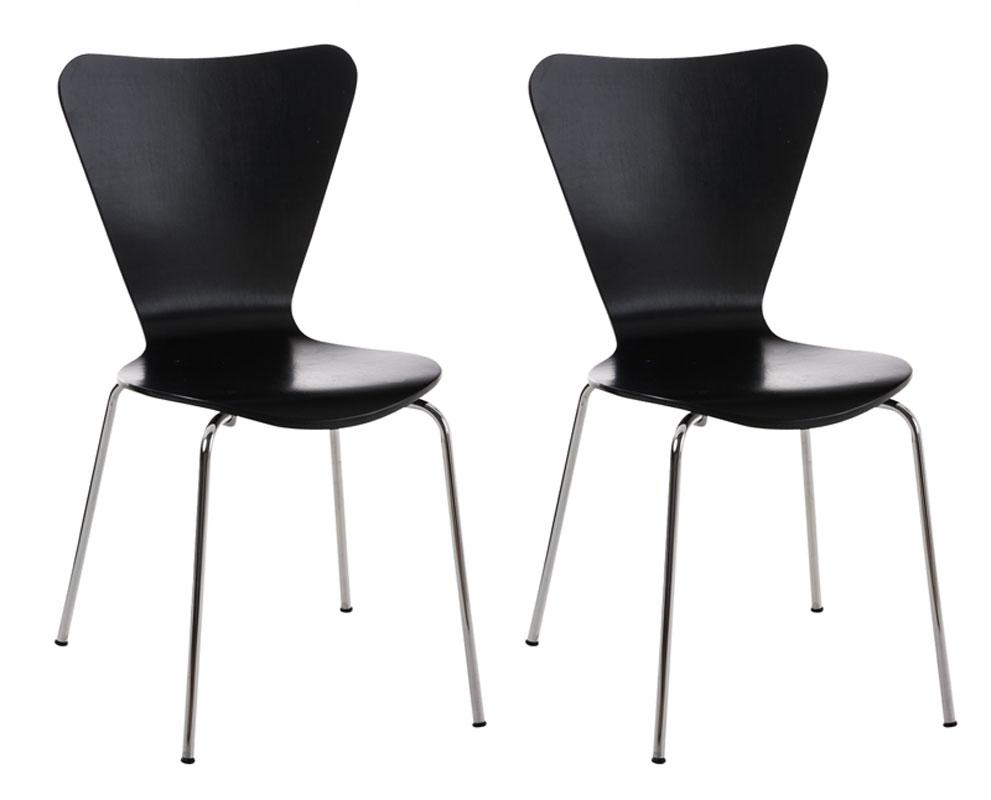 Visitor Chairs, Ergonomically Shaped Reception Chairs/ Waiting Room Chairs Stackable Dining Chairs X 2-Tradecentral LTD