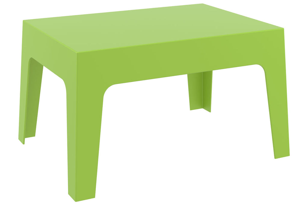 Side Table, Patio Dining Table, UV-resistant Garden Sofa Table,  Stackable Outdoor/Indoor Furniture End Side Table (BOX Green)