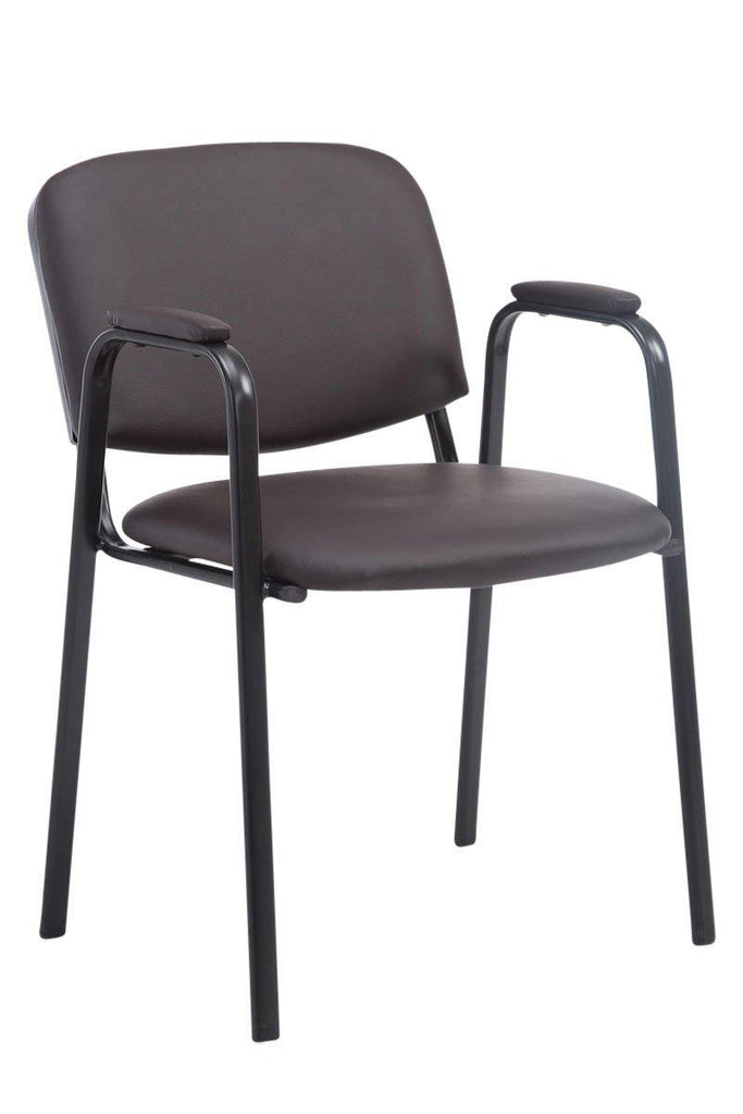 Visitor Chairs, Padded Synthetic Leather Seat, Reception/ Waiting Room Chair Comfortable Canteens/ Cafe Dining Chairs-Tradecentral LTD