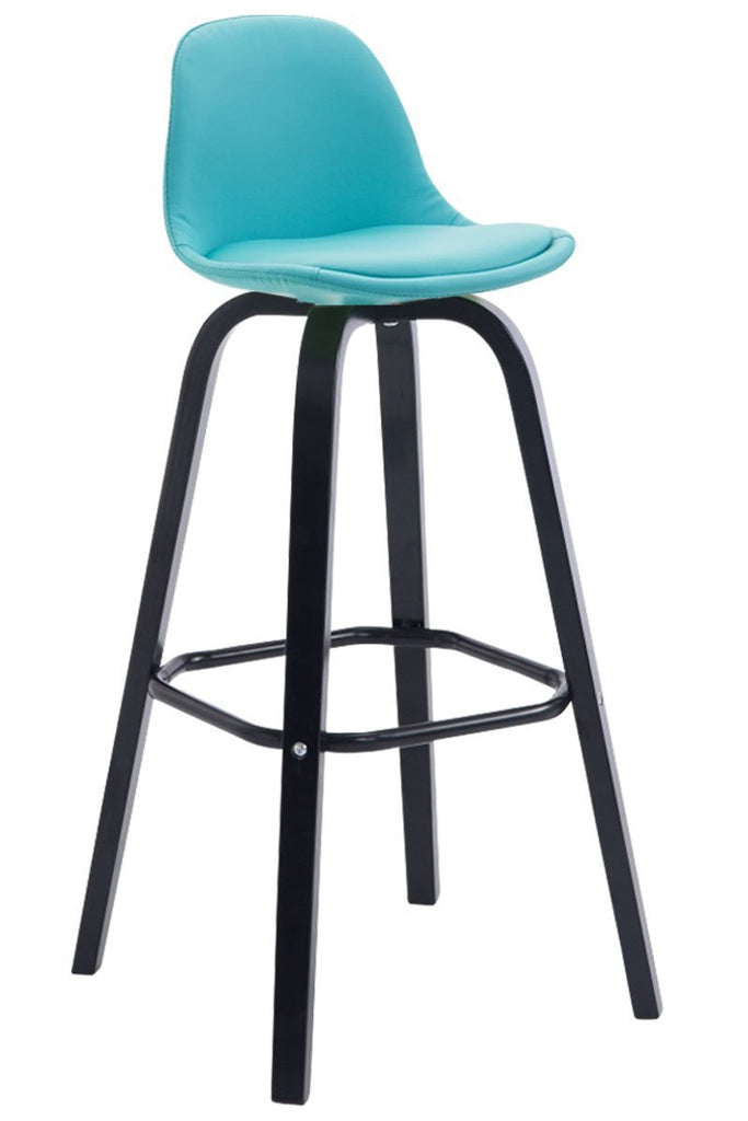 Bar Stool Fully Upholstered Counter High Stool, Comfortably Padded Saddle Kitchen Chair