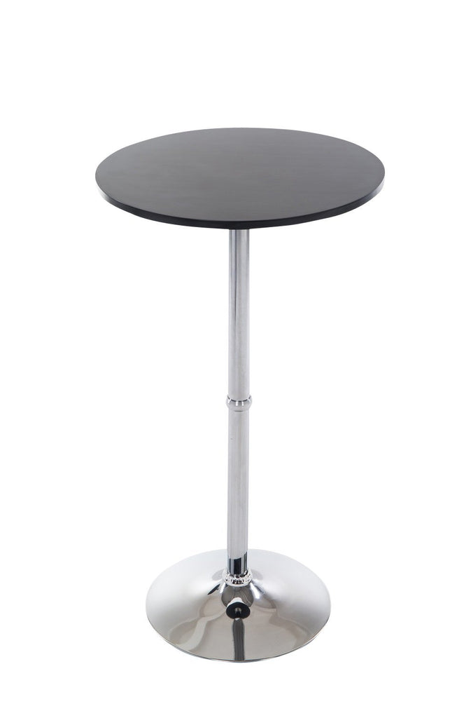 Round Bar Table, Pub Table Round With Metal Frame, Kitchen Breakfast Dining Bistro Cafe Pub Bar Stand
