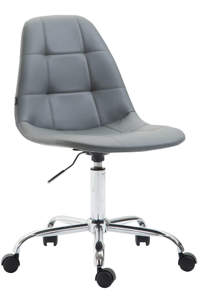 Desk Office Chair, Executive Swivel Computer Chair, Adjustable Height Comfortably Padded, Leather Office Chair-Tradecentral LTD