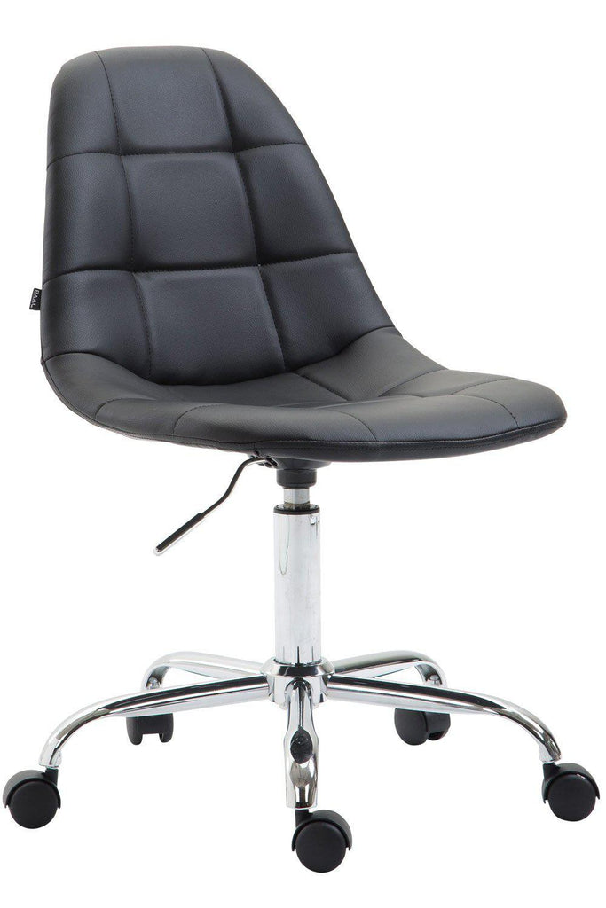 Computer Desk Chair, Swivel Office Chair, Stylish & Comfortably Padded Ergonomic Chair Home Office Leather Furniture, Office Chairs-Tradecentral LTD