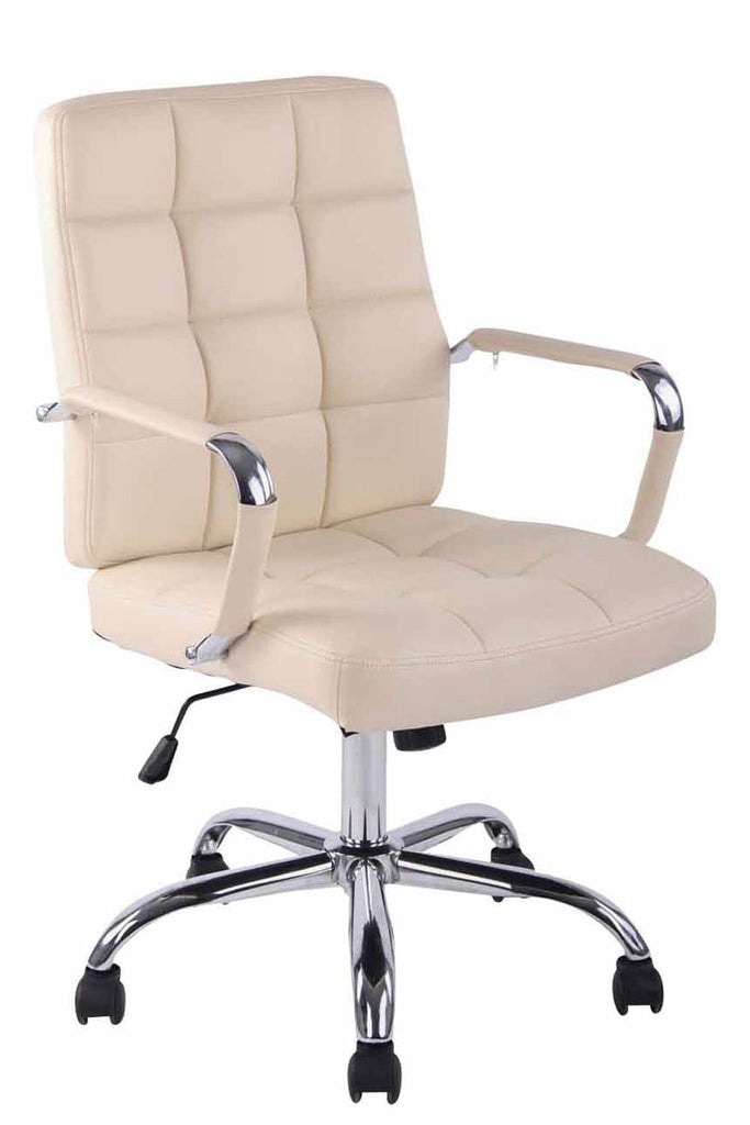 Computer Desk Chair, Executive Office Chair, Comfortably Padded Seat & backrest, Ergonomic Leather Office Chairs