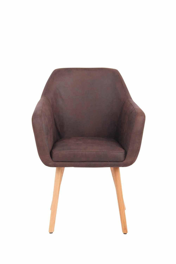 Leather Dining Room Chairs (Natural Oak ), Upholstered Guestroom /Living Room/Kitchen Dining Furniture, Side Dining Chairs-Tradecentral LTD