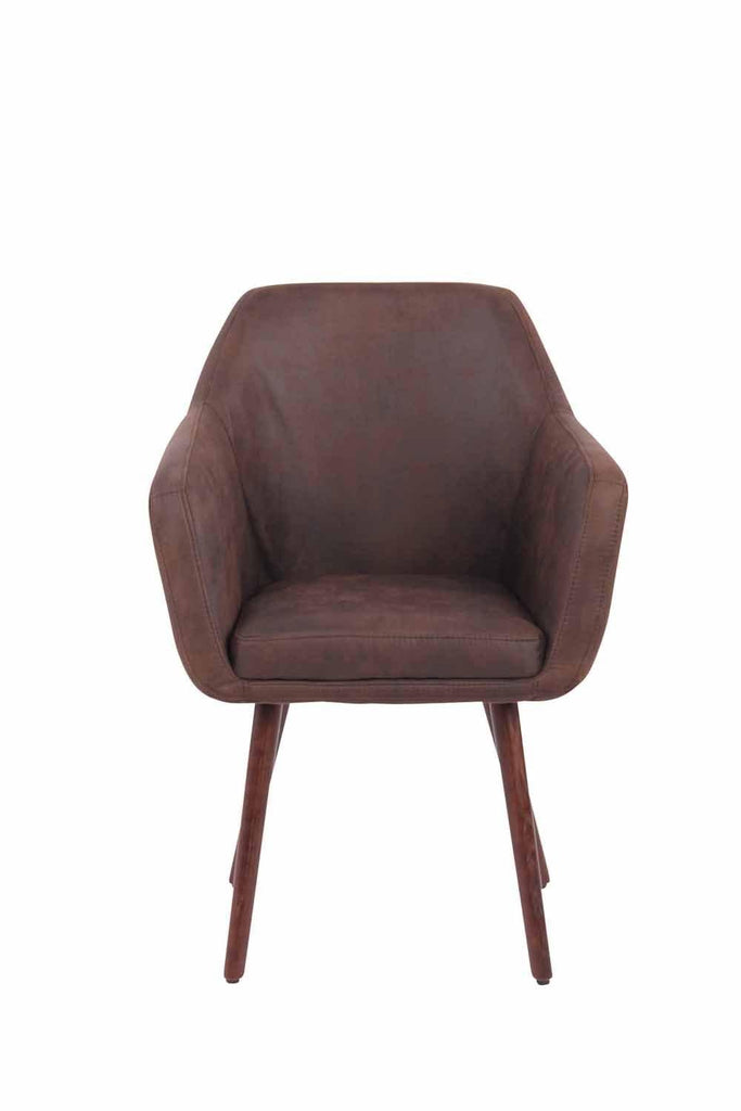 Leather Dining Room Chairs (Oak), Upholstered Guestroom /Living Room/Kitchen Dining Furniture, Side Dining Chairs-Tradecentral LTD