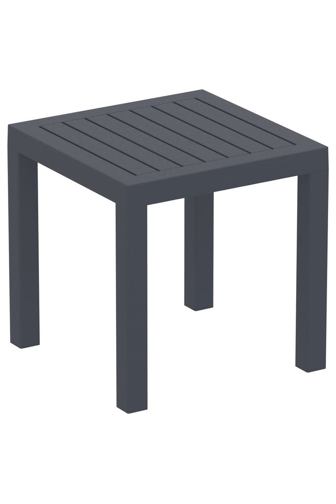Side Table / Patio Dining Table Square, Garden Side End Table/ Stool UV-Resistant, Indoor/Outdoor Table (Ocean)