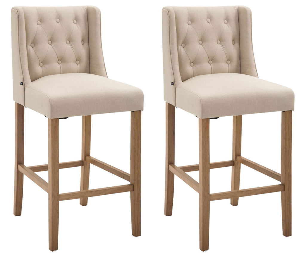 Set of 2 leather indoor kitchen dinning barstool chair white