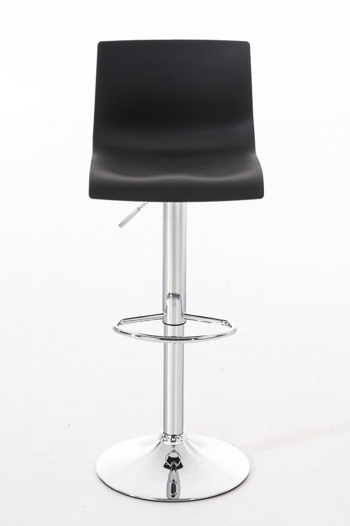 Set of 2 bar stools dining kitchen breakfast counter cafe stools leather black