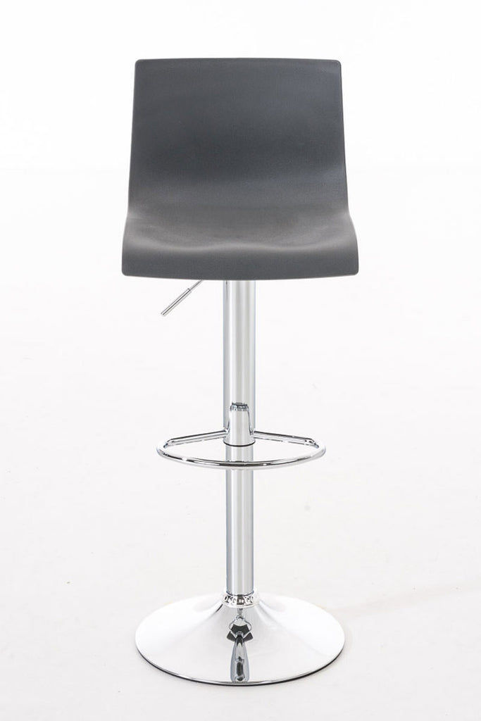 Set of 2 modern bar stools cafe dining kitchen breakfast swivel leather black chrome footrest