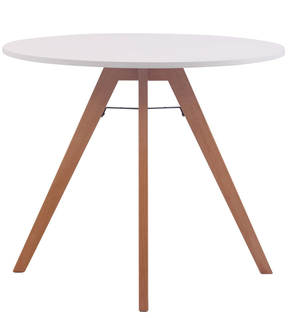 Round Dining Table, Kitchen Breakfast Dining Table (Beech Wood), (90 CM) Coffee Shop Stool, Dining Furniture/ Dining Tables