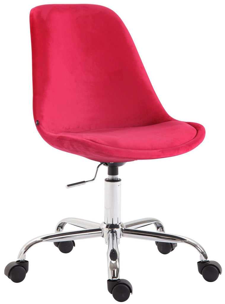 Velvet Office Chair, Swivel Computer Desk Chair, Adjustable Height/Smooth Casters, Stylish Home Office Furniture, Office Chairs-Tradecentral LTD