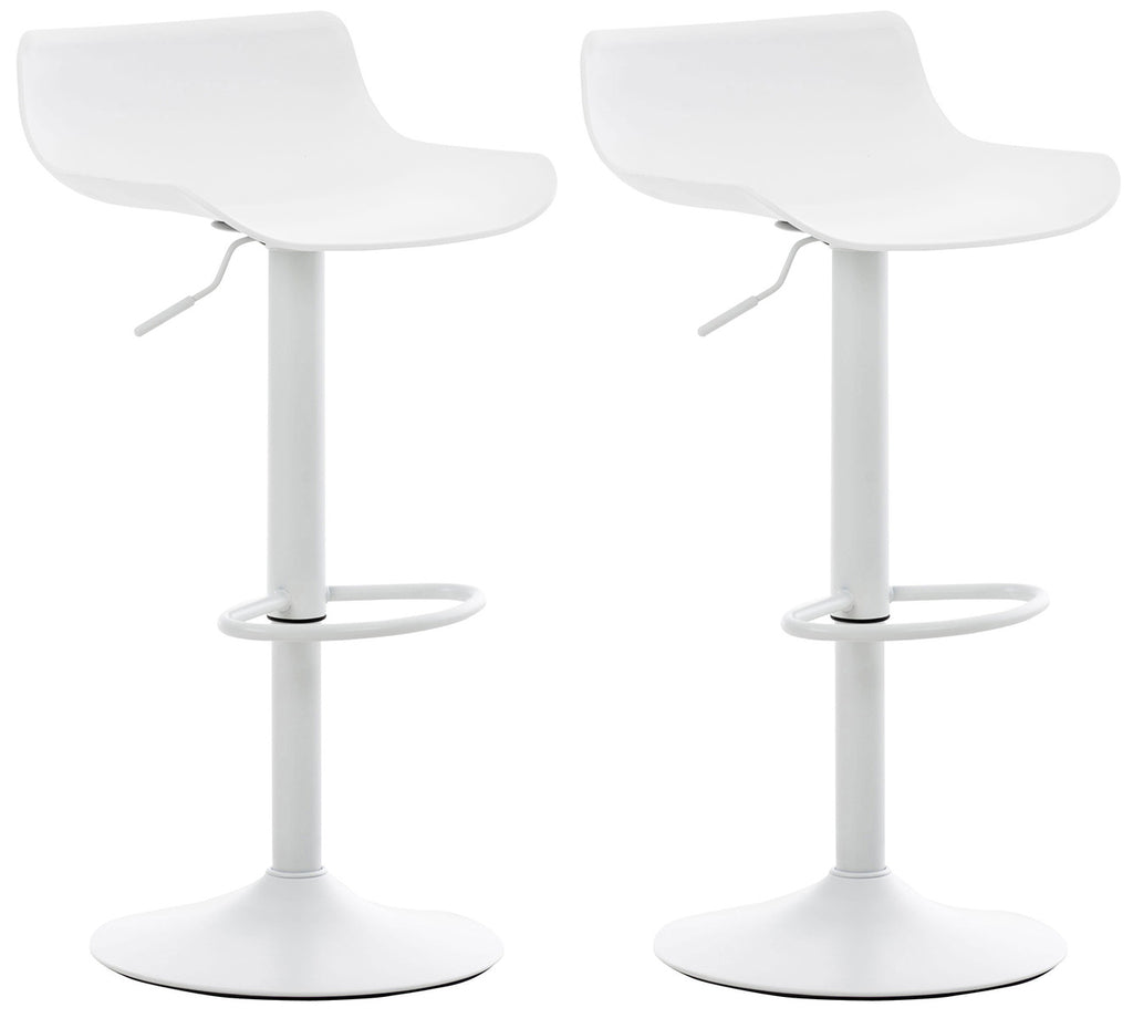 Set of 2 kitchen breakfast dining counter barstools swivel adjustable white