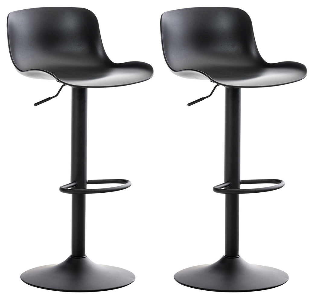 Set of 2 Dinning bar Café Restaurant Kitchen stools Swivel adjustable  footrest black