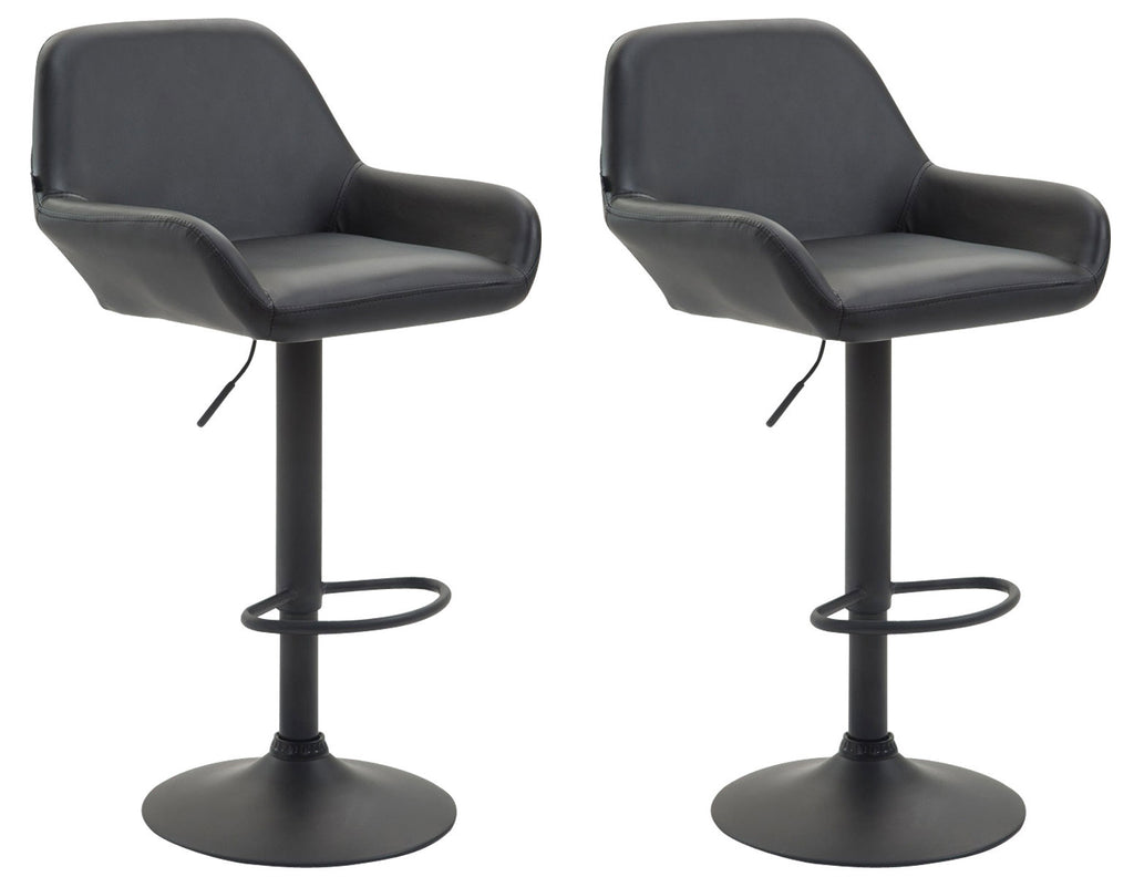 Set of 2 bar stools swivel counter or bar  black