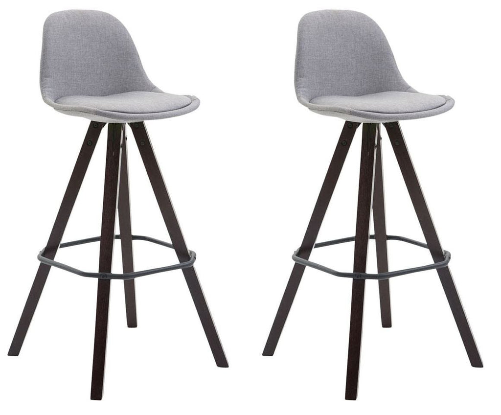 Bar Stools Fabric Square Trendy Bar/Studio Kitchen Chairs Comfortable High Seating X 2