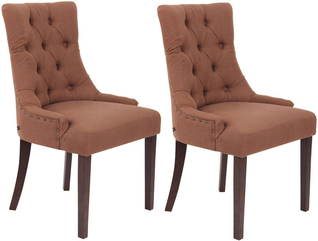 Dining Chairs Set 2, Dining Room Chairs, Living Room/ Guest Room/ Bed Room Fabric Chairs, Elegant Kitchen Dining Furniture Wooden/ Dining Chairs-Tradecentral LTD