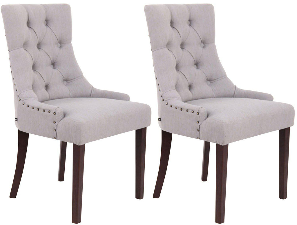 Dining Chairs Luxury, Dining Room Chairs, Living Room/ Guest Room/ Bed Room Fabric Chairs, Dining Furniture Wooden/ Dining Chairs X 2-Tradecentral LTD