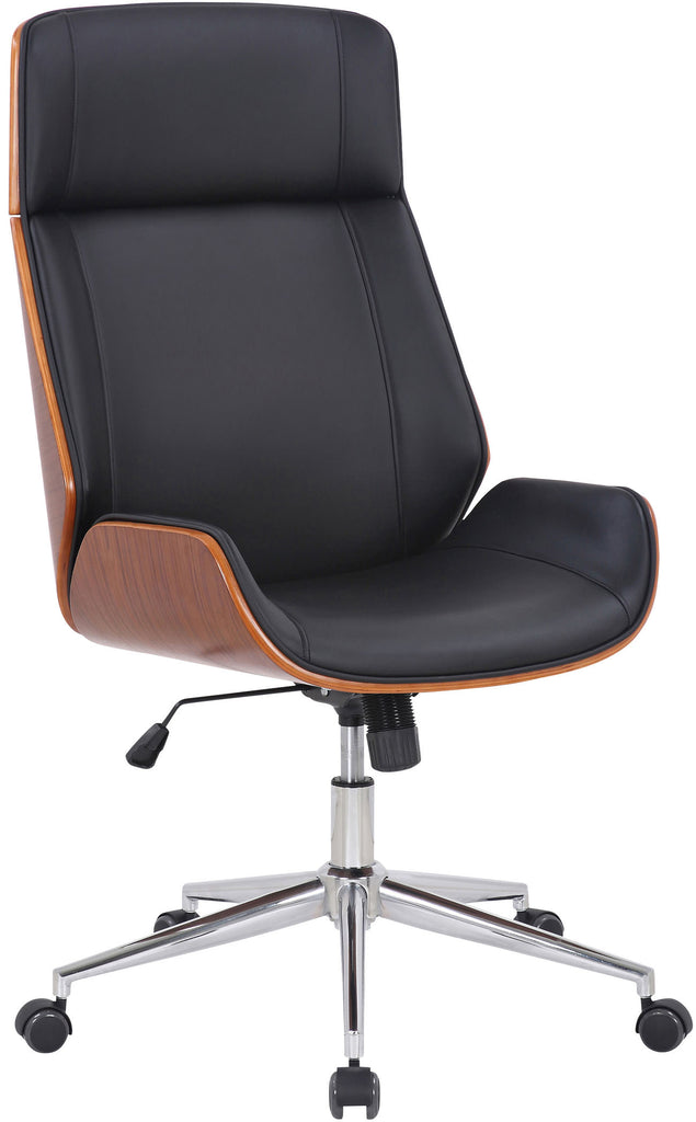 Luxury executive manager boss Office chair synthetic leather, walnut / black