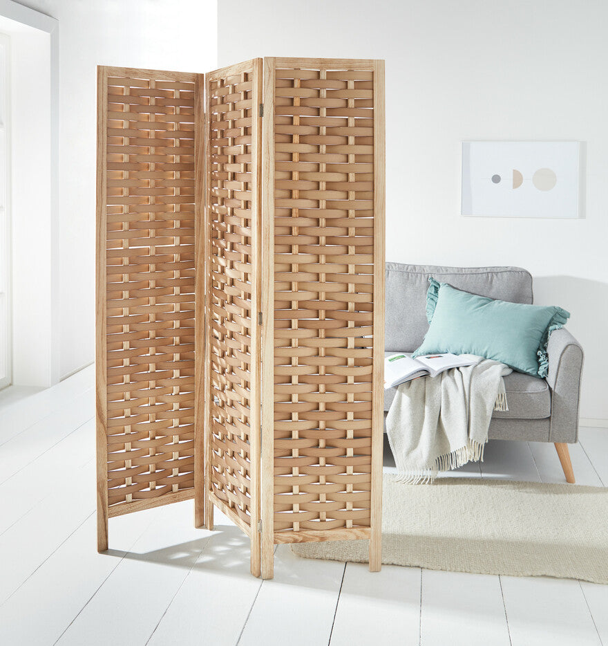 Braiding art wooden divider screen