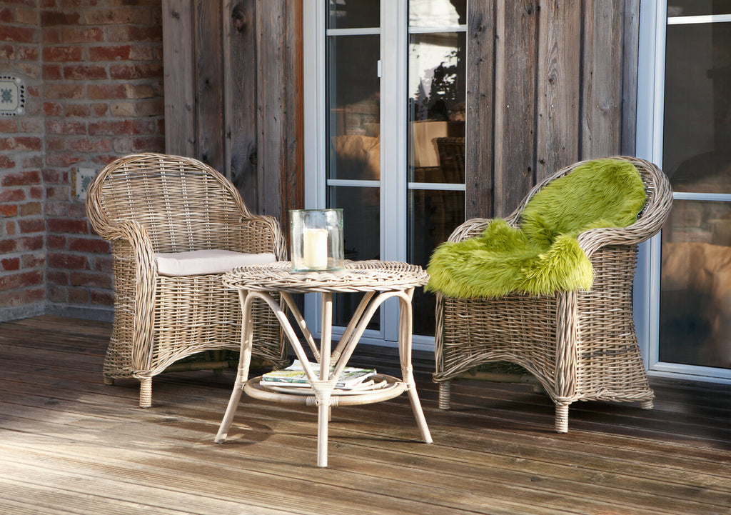 Rattan armchair patio outdoor dining chair