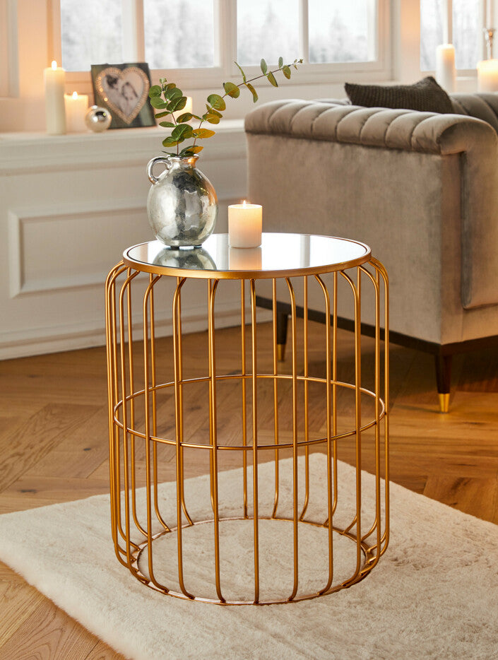 side table bedside table bronze lamp table