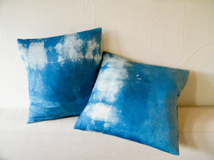 Hand-Dyed Natural Indigo Silk Pillowcase