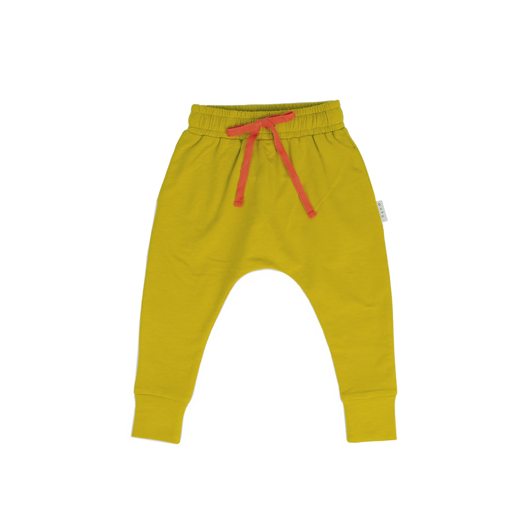 SLIM FIT HAREM PANTS - MUSTARD