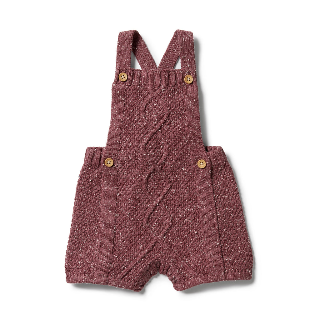 KNITTED CABLE PLAYSUIT - WILD GINGER