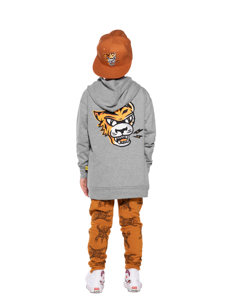 EYE OF THE TIGER FLEECE CLASSIC HOOD CREW - MARLE GREY