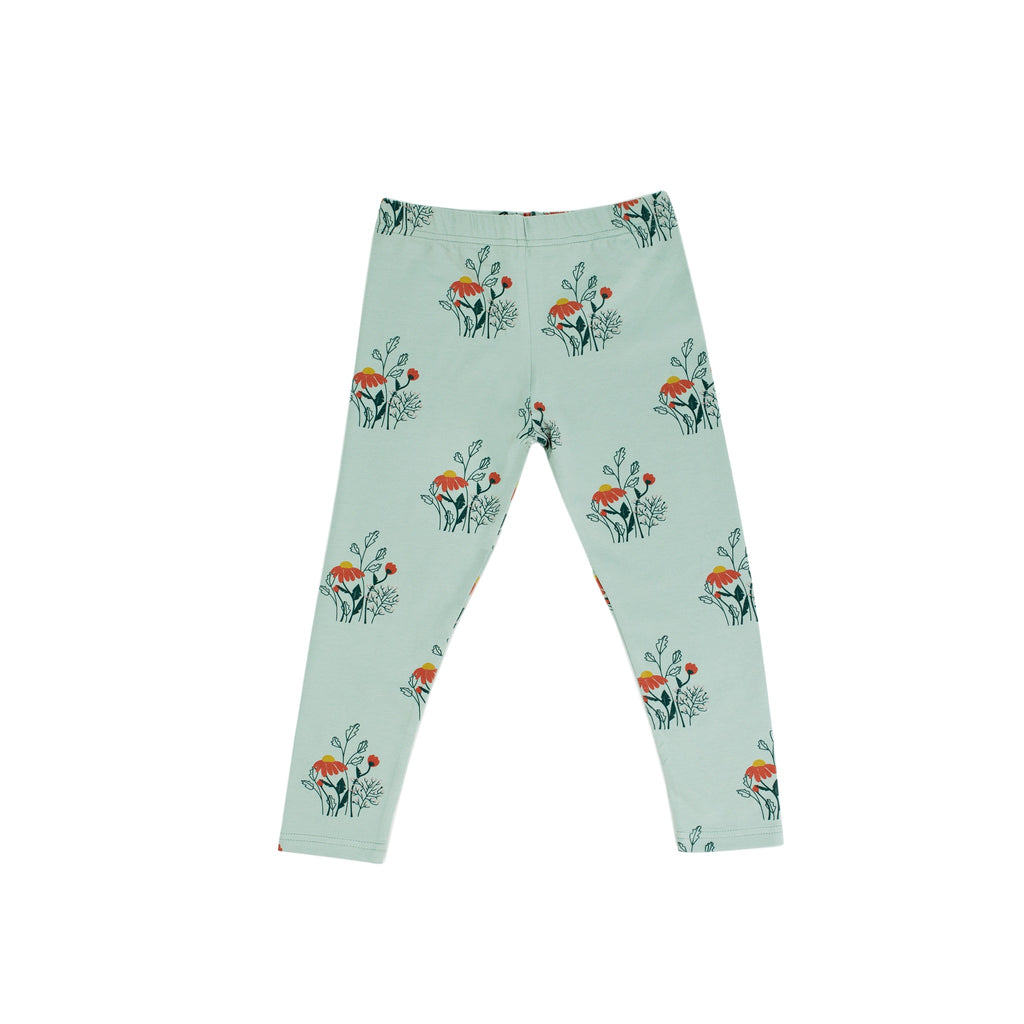 WILDFLOWER LEGGINGS - SEAFOAM