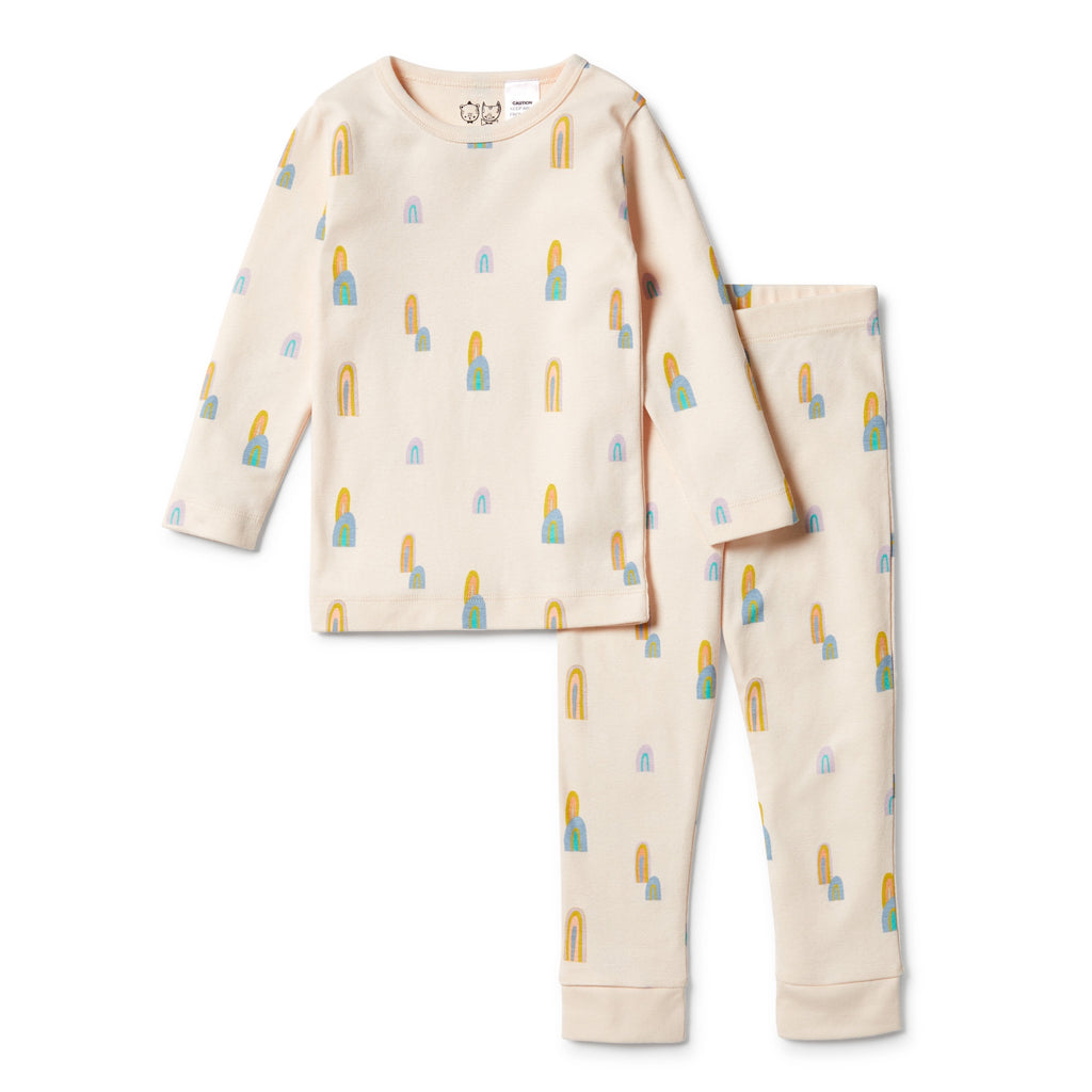 ORGANIC LS PYJAMAS - RAINBOW MOUNTAINS