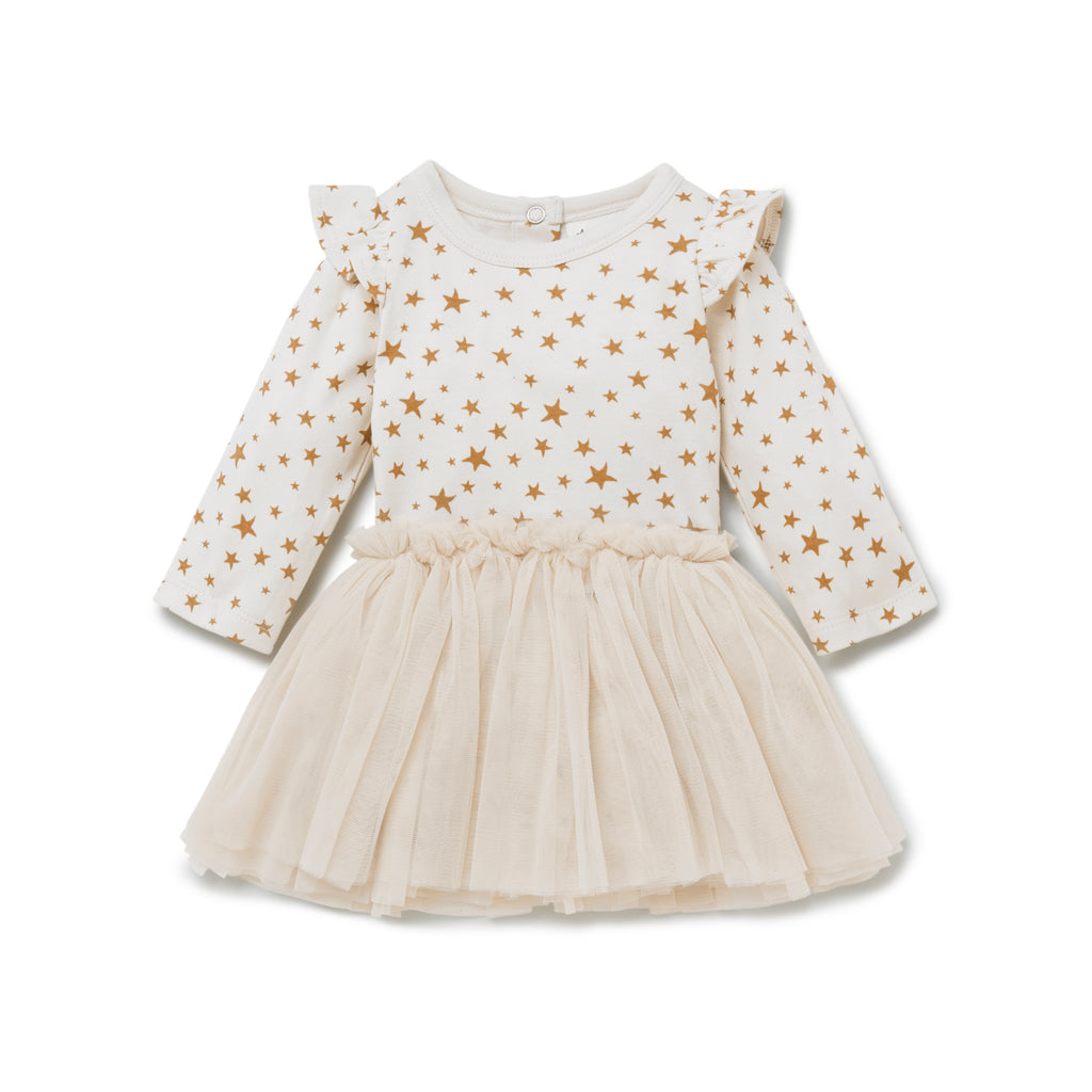 TAFFY STAR TUTU DRESS - WHISPER WHITE