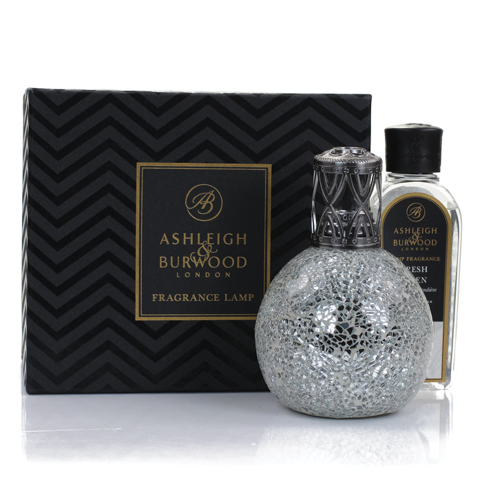 Silver Giftset with 250ml Fresh Linen Oil- Large