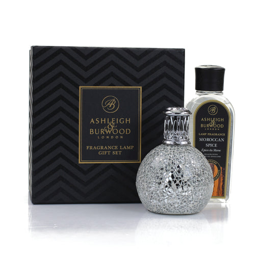 Silver Gift set with 250ml Moroccan Spice Oil-Small