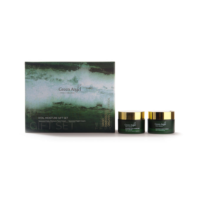 Vital Moisture Gift Set – Seaweed Daily moisturise face cream & Seaweed Night Cream