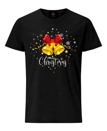 Christmas Bells T-Shirt- Black
