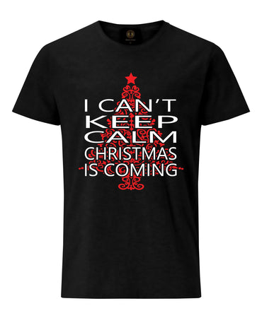 Christmas T-Shirt I Can't Keep Calm- Black