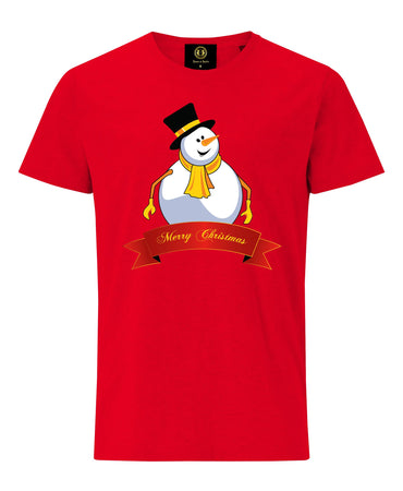 Christmas Snowman T-Shirt -Red