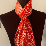 Silk & Rayon Scarf in Bright Orange and Yellow