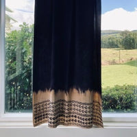 Ohe Kapala Rayon Wrap in Deep Brown and Tan