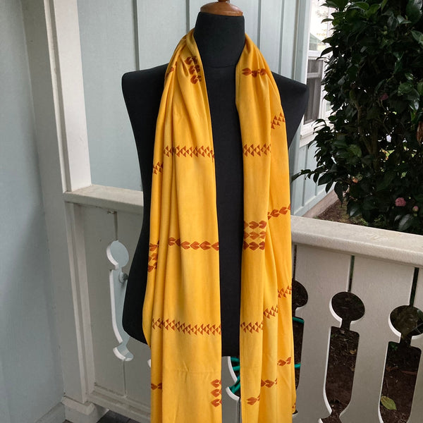 Ohe Kapala Rayon Wrap in Golden Yellow