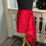 Ohe Kapala Rayon Wrap in Christmas Red